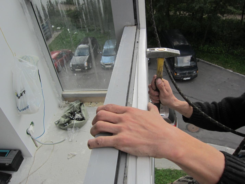 Замена стеклопакета в алюминиевых своими руками